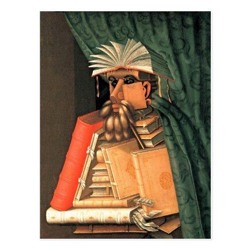 Giuseppe Arcimboldo -- the Librarian Post Card