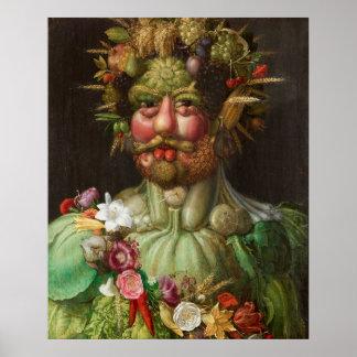 Giuseppe Arcimboldo - Vertumnus Poster