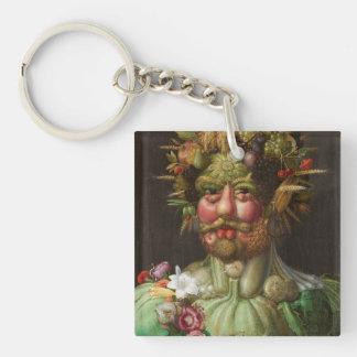 Giuseppe Arcimboldo - Vertumnus Single-Sided Square Acrylic Key Ring