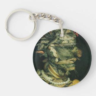 Giuseppe Arcimboldo- Water Single-Sided Round Acrylic Key Ring