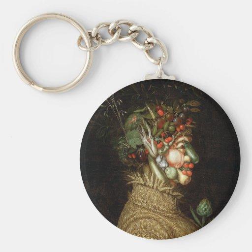 Giuseppe Arcimboldo's The Summer (1563) Key Chain