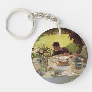 Giuseppe de Nittis- Breakfast in the Garden Acrylic Keychains