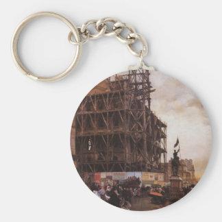 Giuseppe de Nittis- The Place des Pyramides, Paris Key Chains