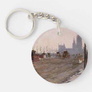 Giuseppe de Nittis-The Victoria Embankment, London Single-Sided Round Acrylic Key Ring