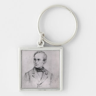 Giuseppe Mazzini (1805-72) 1830 (charcoal) (b/w ph Key Ring
