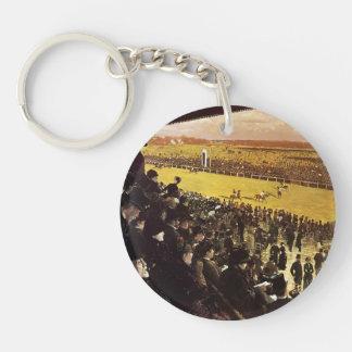 Giuseppe Nittis- The Races at Longchamps Single-Sided Round Acrylic Key Ring