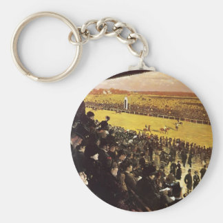 Giuseppe Nittis- The Races at Longchamps Keychain