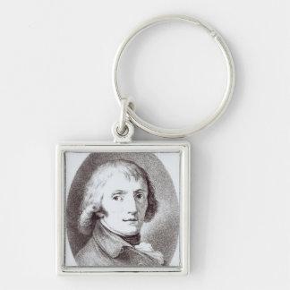 Giuseppe Parini Silver-Colored Square Key Ring
