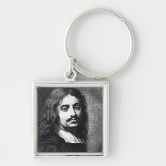 Giuseppe Ribera Silver-Colored Square Key Ring