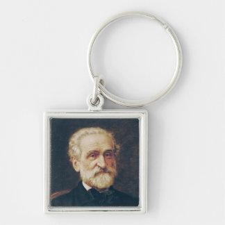 Giuseppe Verdi Silver-Colored Square Key Ring