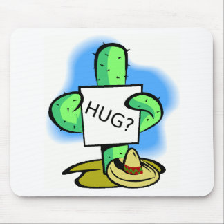 Give a catus a hug mouse pad