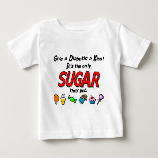 Give a Diabetic a Kiss Baby T-Shirt