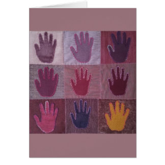 Give A Hand Quilt Card