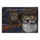 Give a Hoot Owl Greeting Card