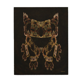 Give a Hoot Owl Wood Canvas