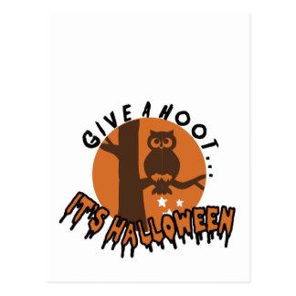 Give A Hoot.... Postcard