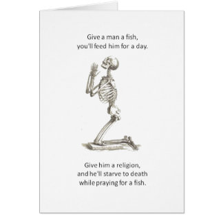 Give a Man  A Fish Greeting Card