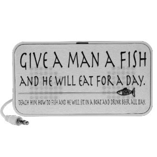 Give a Man a Fish Mini Speakers