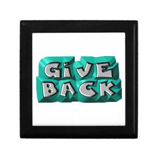 Give Back God Box Small Square Gift Box