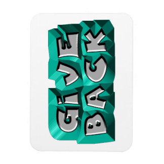 Give Back Rectangle Magnet