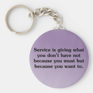 Give because you want to basic round button key ring