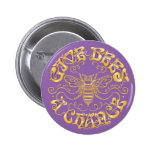 Give Bees a Chance 6 Cm Round Badge