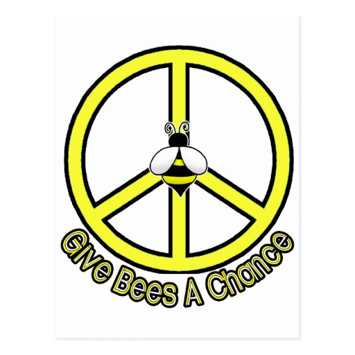 give bees a chance postcard