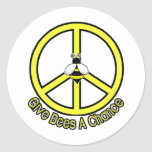 give bees a chance round sticker