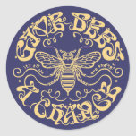 Give Bees a Chance Round Stickers