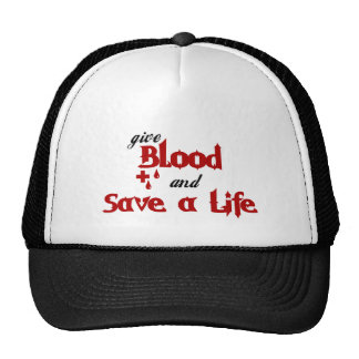 Give Blood and Save a Life Cap