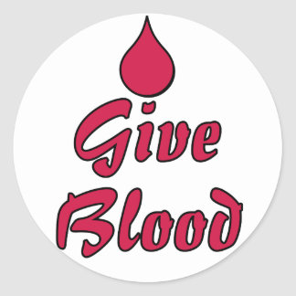 Give Blood Classic Round Sticker