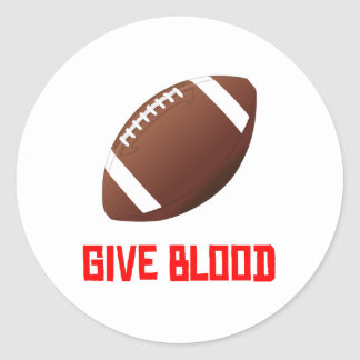 Give Blood Football Stickers