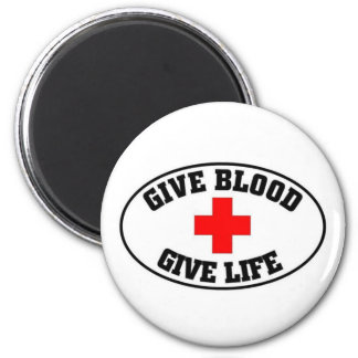 Give blood give life refrigerator magnet
