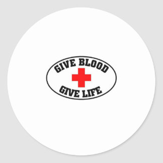 Give blood give life round sticker