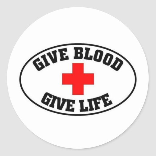 Give blood, give life stickers
