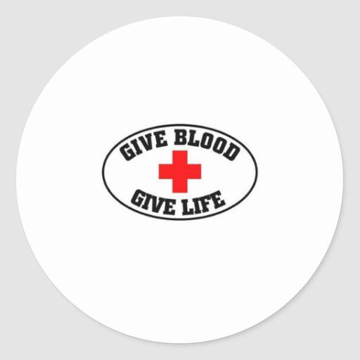 Give blood give life stickers