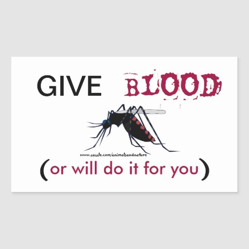 Give Blood Mosquito Sticker