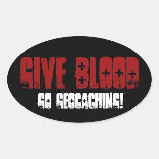 Give Blood Oval Sticker