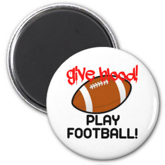 Give Blood Play Football Refrigerator Magnets