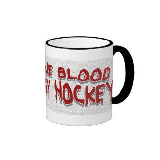 Give Blood Play Hockey Black Mug