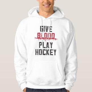 GIVE BLOOD | PLAY HOCKEY - ice hockey hoodie