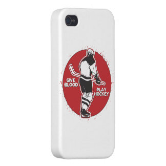 Give Blood Play Hockey iPhone 4/4S Covers