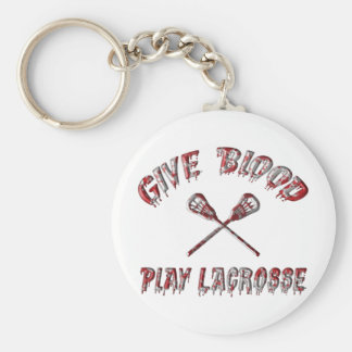 Give Blood Play Lacrosse Key Chain
