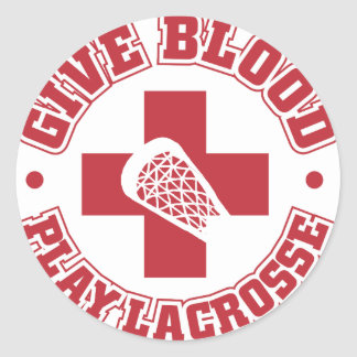 Give Blood, Play Lacrosse Stickers