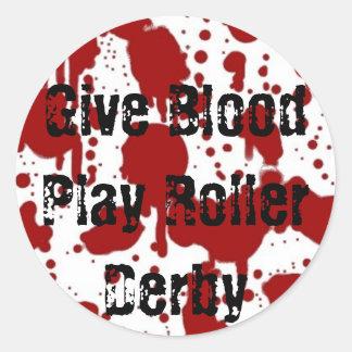 Give Blood Play Roller Derby Sticker