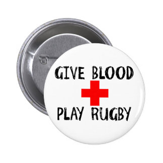 Give Blood, Play Rugby Button