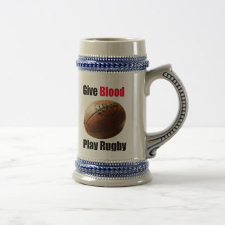 Give Blood, Play Rugby - Beer Stein