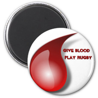 Give Blood Play Rugby Fridge Magnets