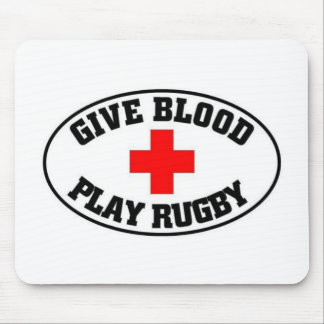 Give blood play Rugby Mouse Mat