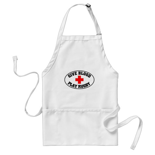Give blood play Rugby Standard Apron
